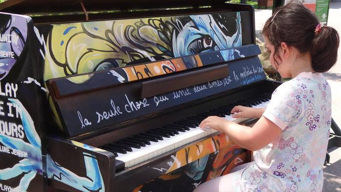 Quand le Street art s'attaque au piano