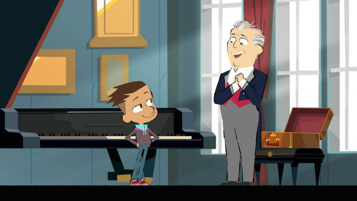 Un dessin animé consacré au piano