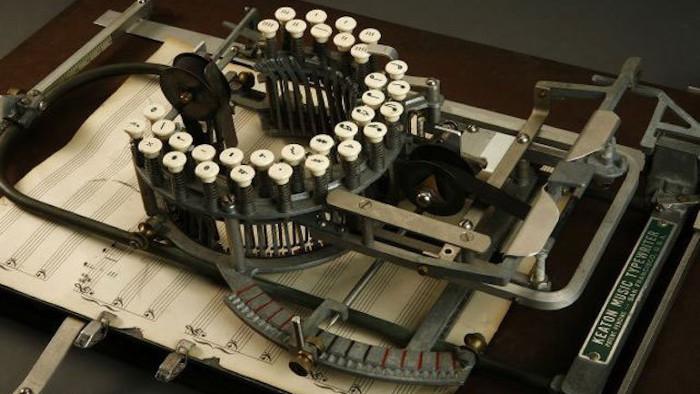L'incroyable machine à écrire... des partitions
