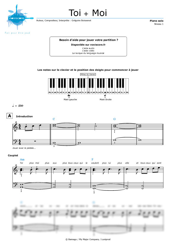 Only You (Partition - Sheet Music) - The Strombolis | Partitions de piano, Louis armstrong, Piano