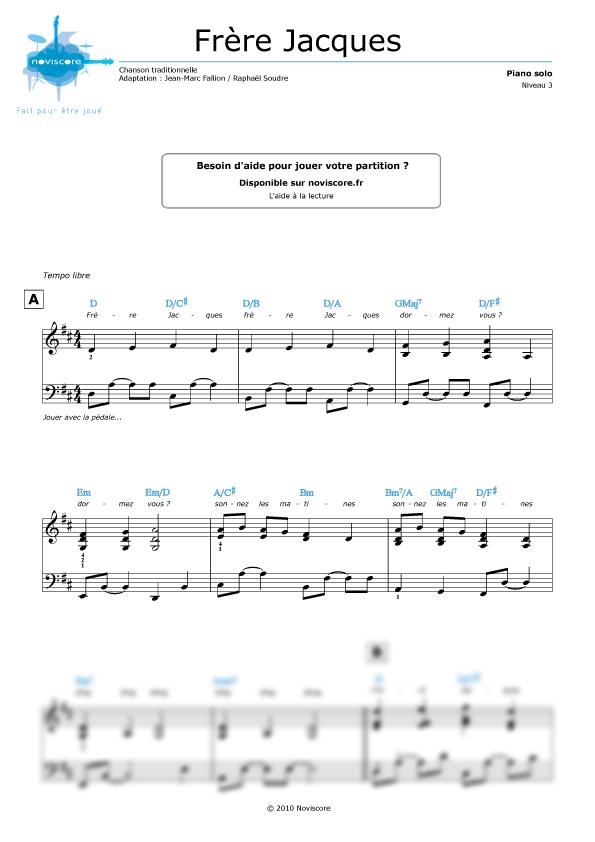 partition musique frere jacques