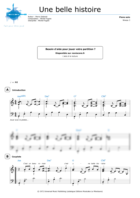 partition musique histoire