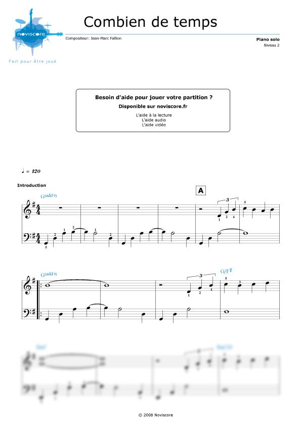 Partition piano combien de temps noviscore partitions noviscore - Chelidoine verrue combien temps ...