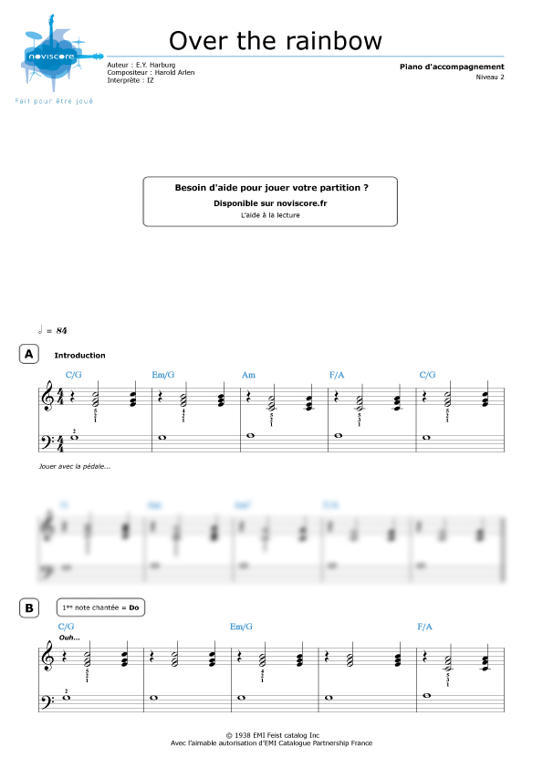 somewhere over the rainbow partition pdf