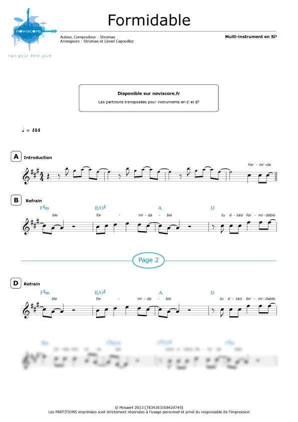 partition musique stromae