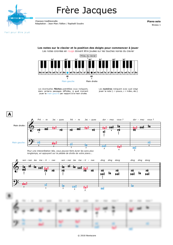 Partition piano xylophone