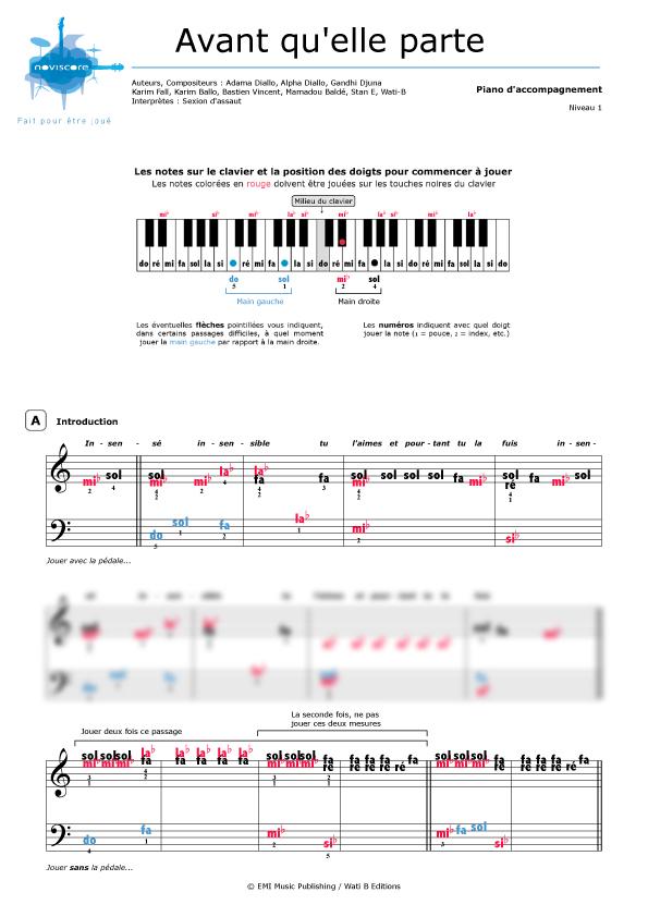 Partition piano rap