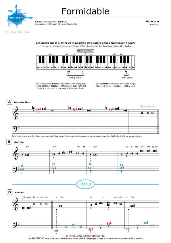 how to play formidable on piano