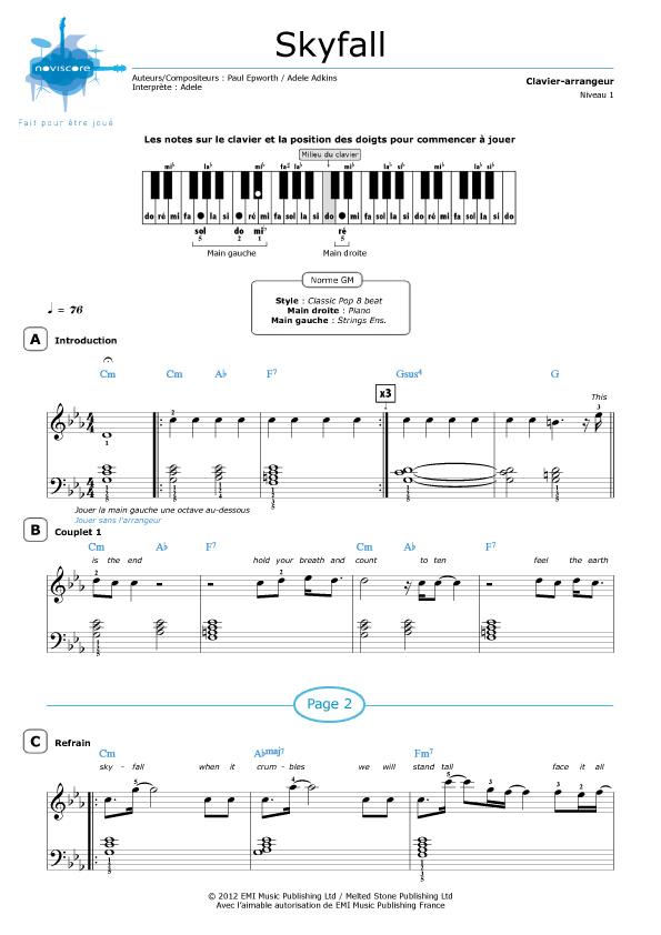 Enchanting Skyfall Chords Piano Elaboration Beginner Guitar Piano