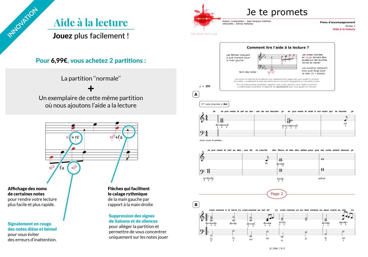Partition piano je te promets johnny hallyday partitions noviscore - Les portes du penitencier original ...