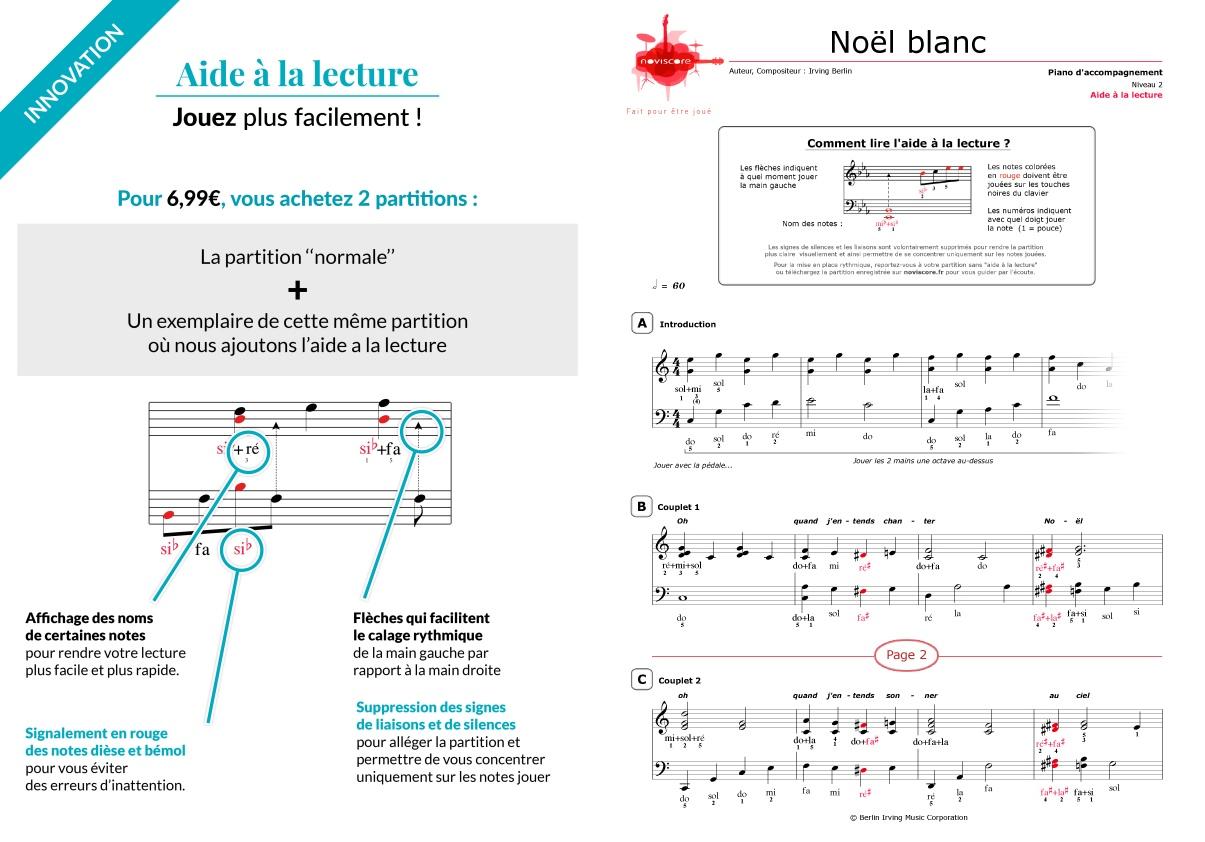 partition piano noel blanc