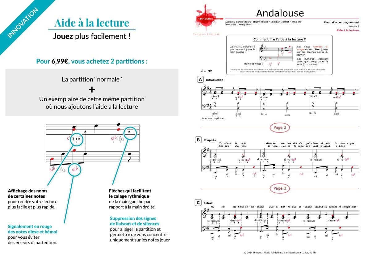 partition piano musique andalouse
